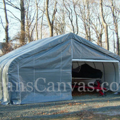 22'W x 24'L x 12'H Two Car Work Shop Peak Style